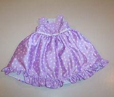 Infant Girl's Holiday Editions Lavender  & White Polka Dot Print Dress 18 Months