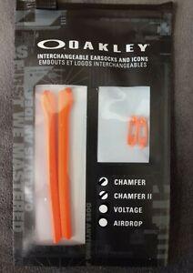 Oakley OEM Chamfer Orange Earsock Tips & Icon Kit OX8039 8040 8045 Authentic