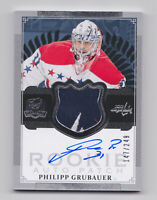 2013-14 Upper Deck The Cup Auto Rookie Patch ARP 124 Philipp Grubauer RC /249