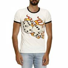Just Cavalli Mens T-Shirt Cream XL CS078 FF 05