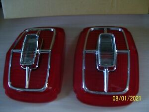 PAIR OF 1967 FORD GALAXIE TAIL LIGHT LENSES