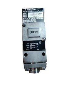 ITT 122P87C6540 ADJUSTABLE PRESSURE SWITCH * NEW NO BOX 375-725 PSIG 11A Switch