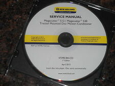 New Holland 512 530 Megacutter Mower Conditioner Service Repair Shop Book Manual
