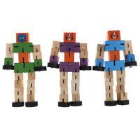 1 unid robot de transformación de madera niños juguete educativo de aprendizaje