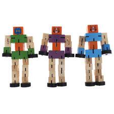 1 unid robot de transformación de madera niños juguete educativo de aprendizaFES