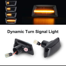 For Opel Astra H Zafira B Corsa D Dynamic Smoked Led Side Marker Singal Light 2x