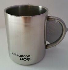 300ml Double Wall Layer Stainless Steel Traditional Mug Outdoor Camping Yellowst