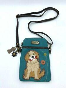 Chala Mini Crossbody Cell Phone Purse Bag Puppy Dog Bone Golden Retriever