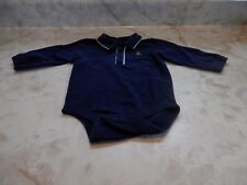Baby Boy 6-12 Months Gap  Navy Blue Long Sleeve Collar One Piece Romper