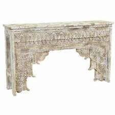 Wooden Carved Console Table Handmade Solid Wood Furniture