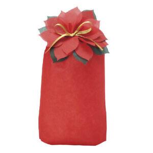 Christmas Xmas Wrapping Carousel Poinsettia Christmas Party Wine Gift Bag
