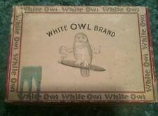 Vintage White Owl Brand Cigar Box, 5 Cent Mild Claro