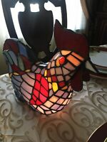 Chicken Stained Glass Night Lamp Tiffany Style Country  Vintage Works Great
