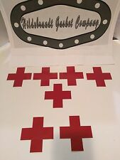 "RED CROSS STICKERS 4"" HIGH QUALITY ( 10 + 4 FREE 30 DAY SALE !)  FAST SHIP !"