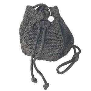 The SAK ALBION Womens Crochet Bucket Bag Purse NWT