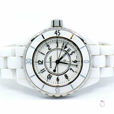 CHANEL J12 WHITE CERAMIC LADIES WATCH, 33MM QUARTZ