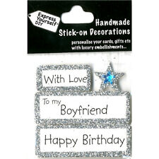 DIY Celebrate-With Love-To My Boyfriend-Happy Birthday-Greeting Card Topper NEW