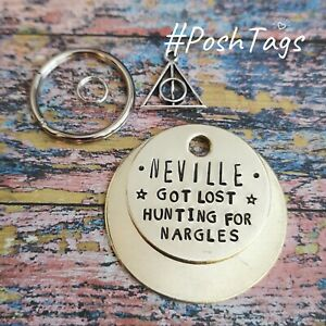 Got lost hunting for Nargles - pet name - 3 sizes handmade tag cat dog PoshTags