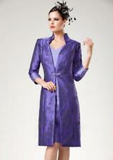 ZEILA MOTHER OF THE BRIDE PURPLE & BLACK CLASSIC SHIFT DRESS & COAT  SIZE 10