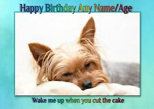 PERSONALISED YORKSHIRE TERRIER YORKIE BIRTHDAY CARD Illustrated inside  A5 size