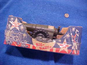"VINTAGE Conestoga Company USA BIG BANG 9"" CAST IRON CANNON w/ Box & Instructions"