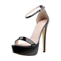 Onlymaker Womens Ankle Strap Open Toe Platform Stiletto Sandals High Heel Shoes