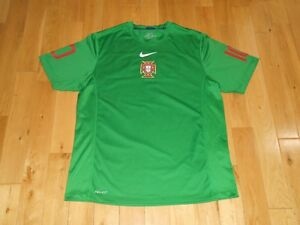 2010 Nike Authentic PORTUGAL NATIONAL TEAM Soccer Practice Jersey Kit Mens Sz XL