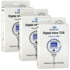 AutoAqua Digital Inline TDS (Total Dissolved Solids) Titanium Aquarium Fish Tank