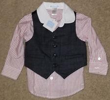 Janie and Jack Boys 2pc Dress Shirt & Vest Size 12 18 Months NEW NWT