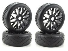 Apex RC Products 1/8 On-Road Black Mesh Wheels / Super Grip Tires #6020 - 2 Pack