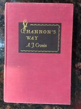 Shannon's Way by A. J. Cronin 1948 First Edition Stated