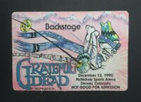 Grateful Dead Backstage Pass McNichols Arena, Denver, CO (12/12/90)