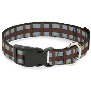 Plastic Clip Collar - Star Wars Chewbacca Bandolier Bounding Browns/Gray