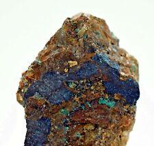 3.7cms NATIVE GOLD OF THE INCAS COVELLITE IRON MALACHITE  MINERAL SPECIMEN L495