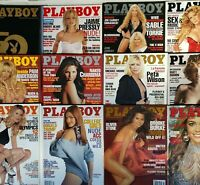 Playboy Magazines Collection Complete Set Full Year with Centerfolds 1985-2010