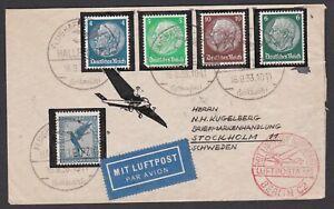 Germany. 1933 Flugpost / Flight Cover to Stockholm via Malmo, Sweden.