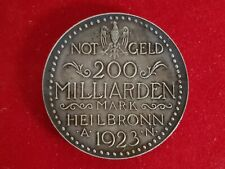 Notgeld 200 Milliarden Mark 1923 Münze Stadt Heilbronn Selten Top Erhaltung RAR