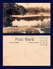 US OHIO MIDDLEFIELD MINERAL LAKE REAL PHOTO CIRCA 1907