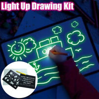 Light up Drawing Fun Developing Toy Draw Sketchpad Board Portable for Kids
