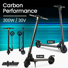 Alpha 300W Electric Scooter Carbon Fiber Portable Foldable Commuter Bike Ah <br/> 3 Speed, Kinetic System, LCD Monitor, LED Headlight