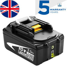 18V 5.0AH Battery for Makita BL1860B BL1850B BL1840B BL1830B with LED Indicator