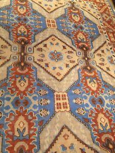 Oushak Area Rug 9 ' X 12' Blue hand Woven Wool Knotted Elegant ushak Thick Pile