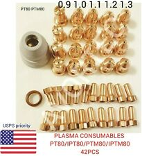 Plasma Consumables PT80 PTM80 iPT-80,MIX/MATCH 0.9,1.0,1.1,1.2,1.3-42PCS QUALITY