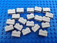 Lego 2x1 Grey HOUSE BRICK Pattern Wall QTY20 City Town Western Castle Star Wars