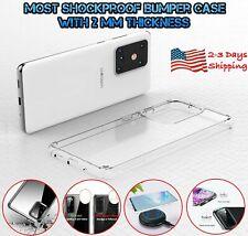Samsung Galaxy S9 S10 S20 Plus Clear Case Transparent Silicone TPU Bumper Cover