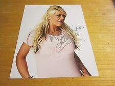 Angelina Love Wrestler Autographed 8X10 Photo Wrestling TNA WWE