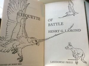 Etiquette of Battle, Lamond (HC 1966) Australian Stories Animals Birds, 1st Ed.