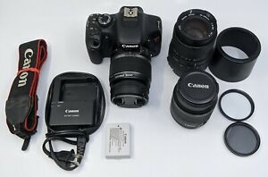 Canon EOS Rebel T2i 18.0MP Digital SLR Camera W/ 3 Lens Combo