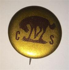Antique / Vintage Rare Bucking Bronco Calgary Stampede Pinback Button! Rodeo!!
