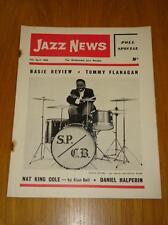 JAZZ NEWS 1962 APR 11 UK MUSIC MAGAZINE NAT KING COLE